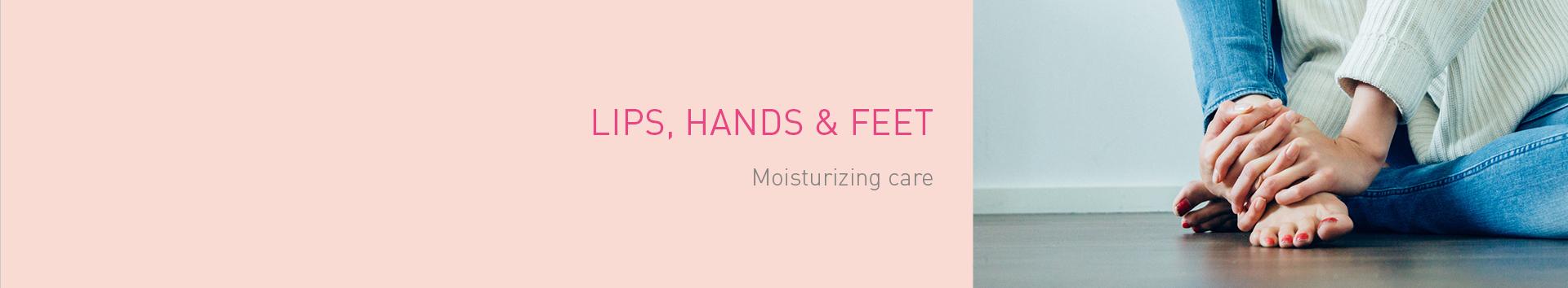 Lips, hands & feet